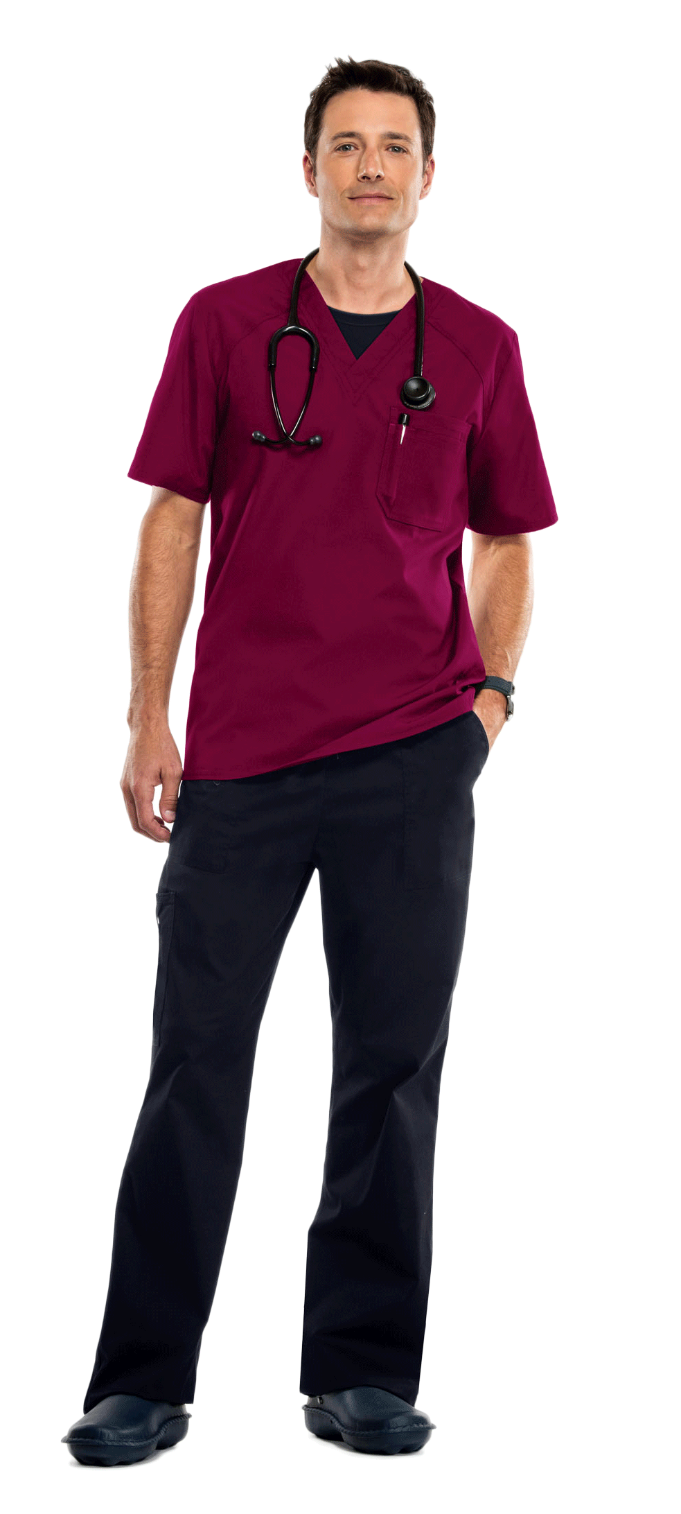Cherokee Scrubs - Maroon and Black