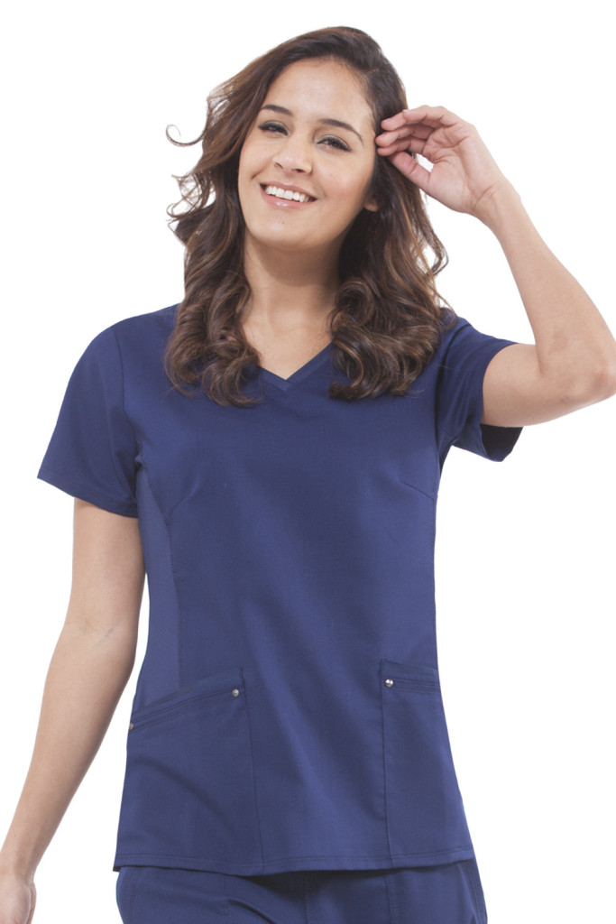 yoga navy healing hands scrubs
