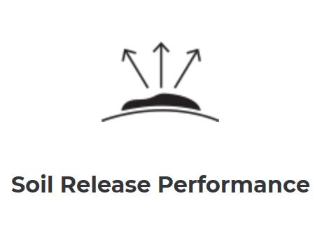 Barco Scrubs soil release logo